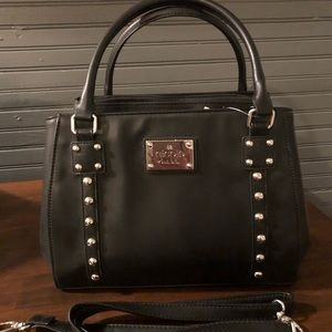 Black Nicole Miller Purse with Silver Studs